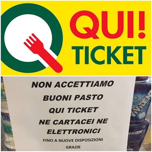 """Foto tratta dalla pagina Facebook """"I disperati dei buoni pasto qui ticket _dove spenderli??"""""""