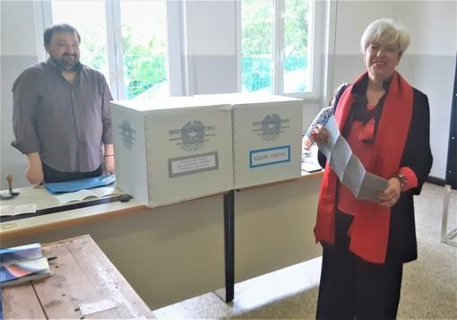 La candidata alle europee Maria Gabriella Branca ha votato