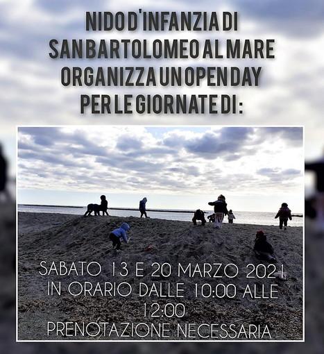 San Bartolomeo al Mare: 'Abbracciaperte', a marzo due Open day. Le famiglie potranno scoprire gli spazi e conoscere il progetto educativo