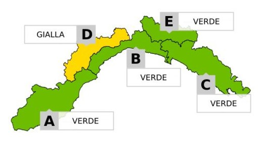 Colpo di coda dell'inverno sulla Liguria: sulla provincia di Imperia Allerta Verde per neve