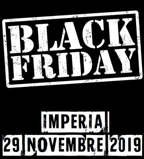 Imperia: domani il 'Black friday' dei commercianti imperiesi, quarta edizione di un momento unico di shopping