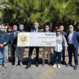 Per la campagna 'Unisciti a Noi' di Conad, 74 mila euro all'ASL 1 Imperiese pro Ospedale di Sanremo