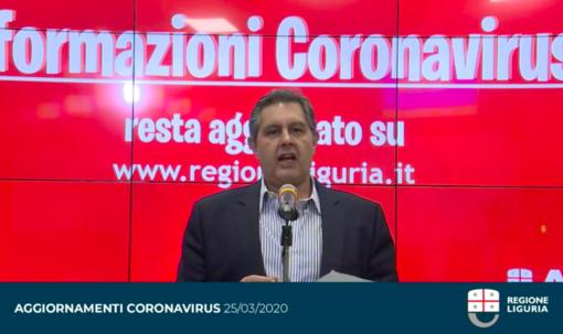 """Emergenza Coronavirus: Toti """"Contagi in calo rispetto a ieri, l'epidemia sta rallentando. Sono giorni fondamentali"""" (Video)"""
