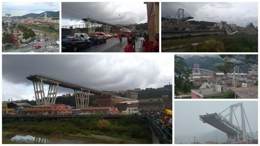"""Il ponte """"Morandi"""" crollato questa mattina"""