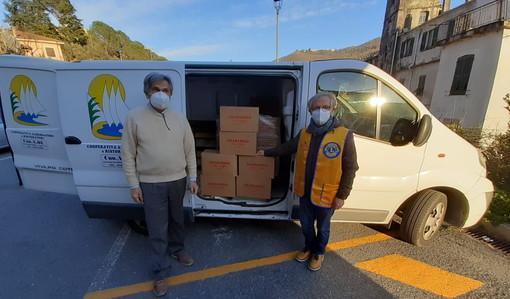 Borgomaro: il Lions Club Imperia Host vicino a chi ha bisogno, importante donazione alla Caritas (Foto)