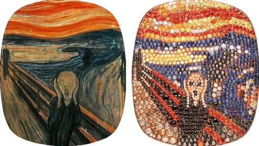 Sanremo: l'urlo di Munch diventa gioiello alla Gioielleria Davide Currado