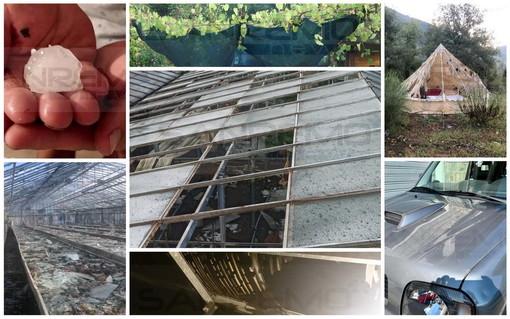 Grandinata di stanotte in provincia: Ventimiglia e Camporosso chiedono lo stato di calamità (Foto e Video)