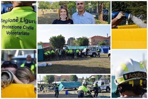Tutta la Protezione Civile della provincia oggi a Taggia per una importante esercitazione congiunta (Foto e Video)