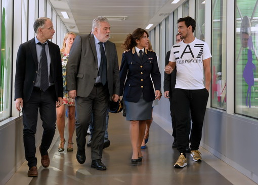 Il tennista armese Fabio Fognini ha inaugurato 'Regolandia': poliziotti e personale sanitario insieme ai grandi dello sport (Foto)