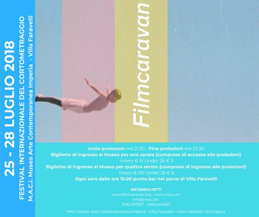 """Imperia: al MACI arriva """"Filmcaravan"""", Festival Internazionale del cortometraggio"""