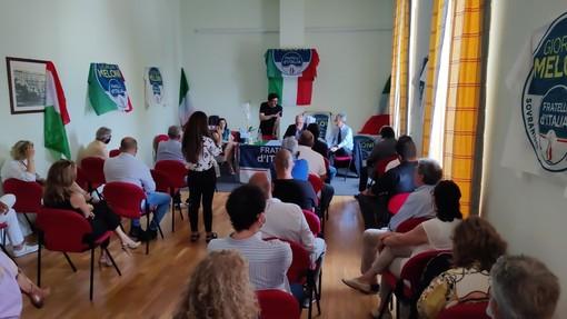 Sanremo: il coordinatore regionale di FdI Matteo Rosso incontra la base e i dirigenti provinciali (Foto e Video)