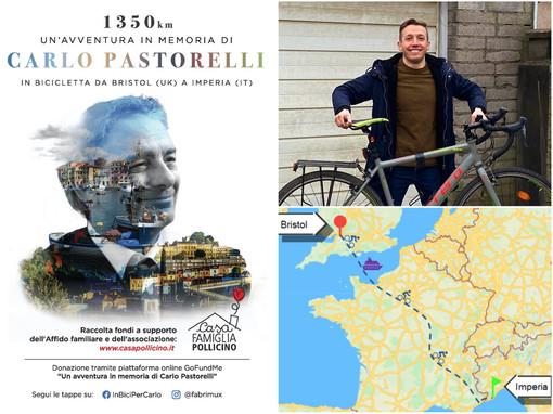 1350 km in bici per ricordare Carlo Pastorelli: sabato via al viaggio di Musso da Bristol a Imperia