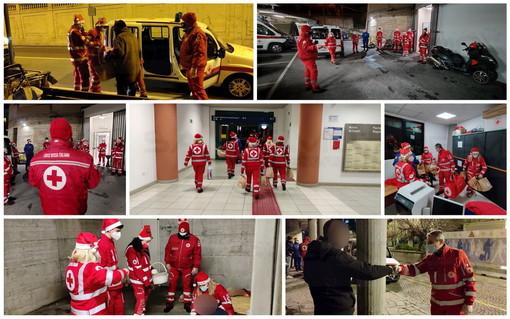 Sanremo: la notte di Natale con gli 'Angeli della Croce Rossa', un aiuto fondamentale per gli 'invisibili' (Foto e Video)