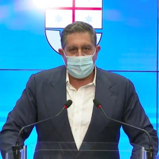 """Coronavirus, Toti: """"Il trend positivo continua. Vaccino Pfizer: abbiamo fatto una richiesta di circa 57 mila unità"""""""