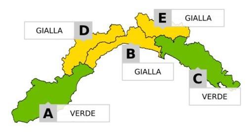 Torna il maltempo su tutta la Liguria con forti temporali. Risparmiato il Ponente