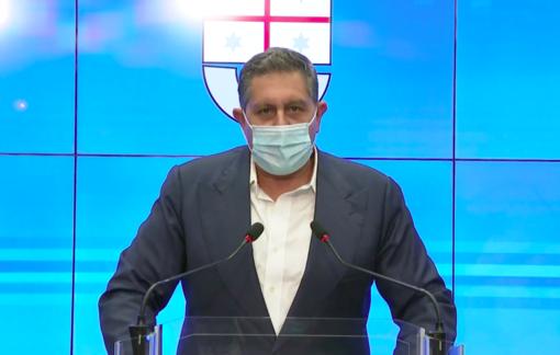 La conferenza stampa di Giovanni Toti