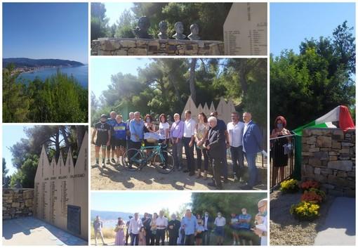 Diano Marina: inaugurato stamattina sul Berta il 'cippo' in memoria di Felice Gimondi (Foto e Video)