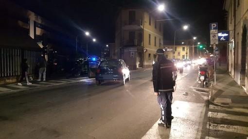 Imperia: scontro auto-moto in via Garessio, lievemente ferito il conducente del mezzo a due ruote (Foto)