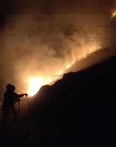 Imperia: domato ieri sera l'incendio di sterpaglie in regione Panegai