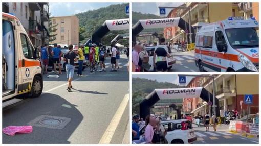 Cinque ciclisti investiti da un'auto ieri nella Granfondo a Carcare: c'è anche un imperiese, indagini in corso
