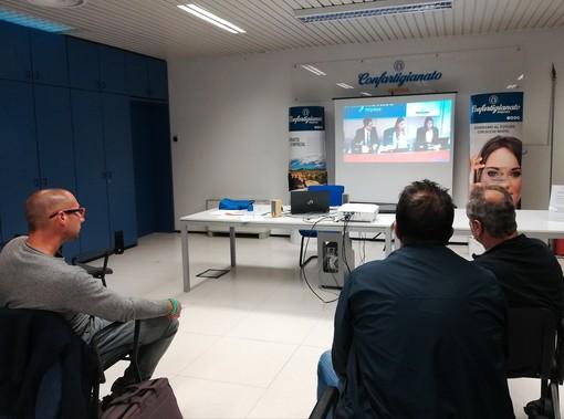 Sanremo: imprese di edili e impiantisti ieri alla Confartigianato per il collegamento con il seminario nazionale sullo sconto in fattura