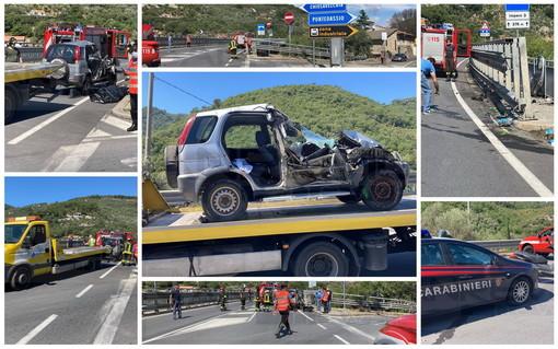 Pontedassio: è l'imperiese Giuliana Bellagente la donna morta stamattina nell'incidente sulla SS28 (Foto e Video)