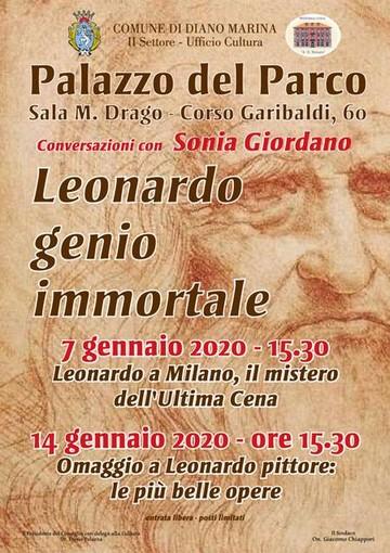Diano Marina: al Palazzo del Parco la prima conferenza di Sonia Giordano su Leonardo