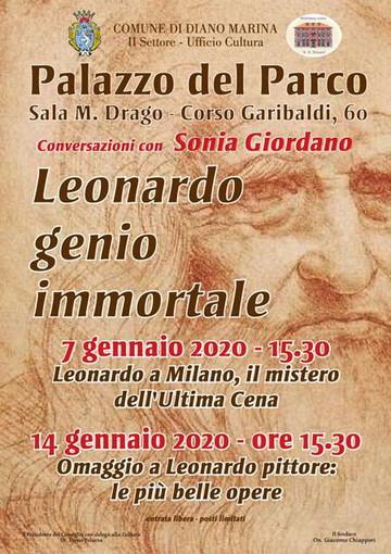 Diano Marina: 'Leonardo genio immortale', oggi il secondo appuntamento nella sala 'Margherita drago' della biblioteca