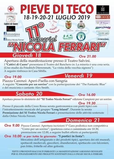 """Pieve di Teco: dal 18 al 21 luglio tornerà il Memorial """"Nicola Ferrari"""", tante iniziative per beneficenza"""