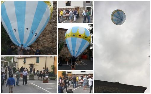 Bellissimi ed Aurigo insieme ieri per il lancio di una mongolfiera per la natività di Maria Vergine (Foto)