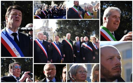 Nizza: in 500 in place Garibaldi per rilanciare l'unità tra Italia e Francia, le voci di due province italiane e della Costa Azzurra (Foto e Video)