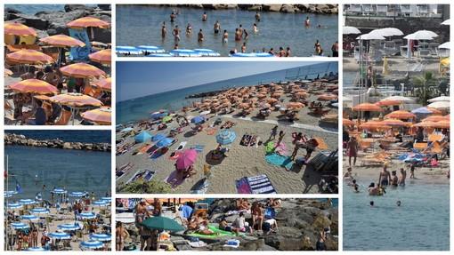 Nella gallery la situazione sulle spiagge nella giornata di ieri
