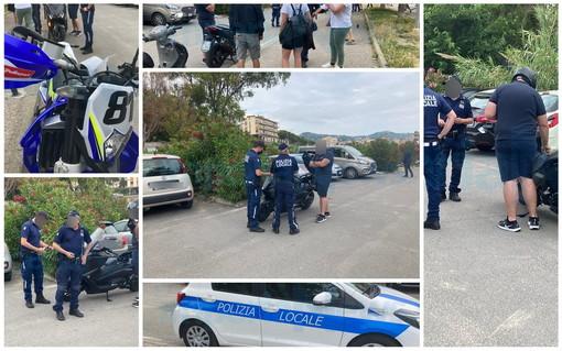 Imperia: multe agli scooter parcheggiati fuori dagli stalli, proteste oggi pomeriggio al Parco Urbano (Foto)