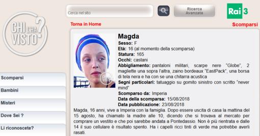 Imperia: al via le ricerche per la sedicenne Magda, scomparsa da ferragosto