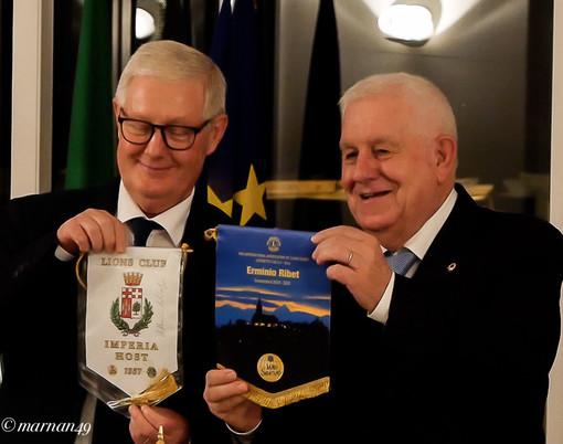 Il Presidente Vittorio Adolfo e il Governatore del Distretto 108IA3 (Imperia, Savona e Cuneo) Erminio Ribet