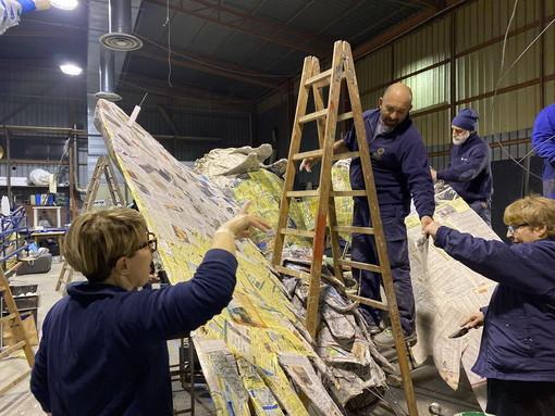 Diano Marina: i preparativi dei carri e l'attesa che cresce per la 53a edizione del Carnevale di Diano Marina (Foto)
