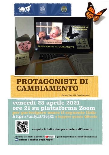 """Domani su Zoom l'incontro """"Protagonisti di cambiamento"""" con il dott. Roberto Ravera"""
