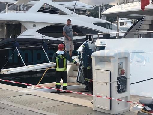 Imperia: principio di incendio nella sala macchine di uno yacht alla Marina, intervento dei Vigili del Fuoco (Foto)