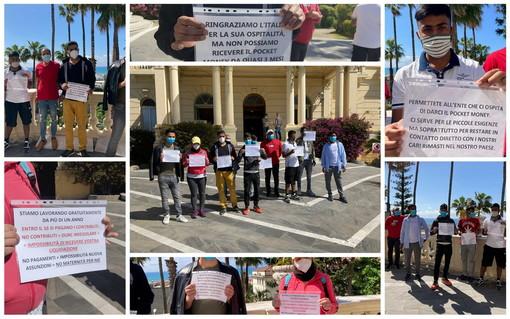 Imperia: associazione senza i fondi governativi da un anno e senza stipendi da 6 mesi, protesta in Prefettura (Foto e Video)