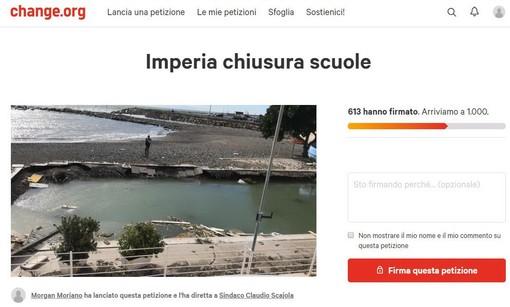 Imperia: una petizione lanciata ieri sera per chiedere al Sindaco di chiudere le scuole, oltre 600 le firme