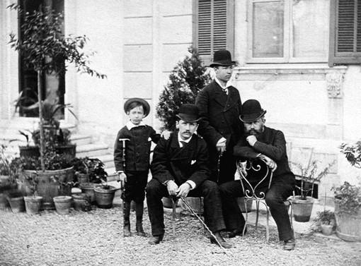 Pete Ilic e Modest Cajkovskij a Coldirodi nel 1878