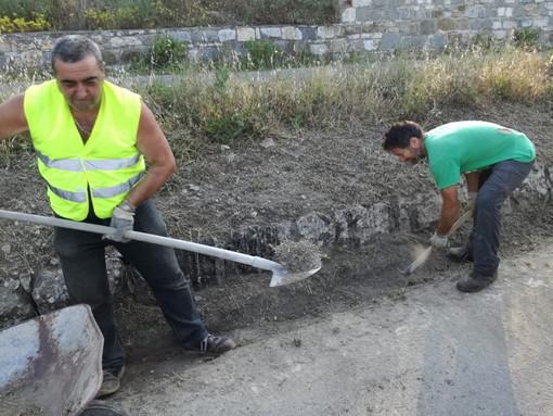 Cipressa: 10 chilometri di strade provinciali pulite ieri dai volontari locali e di Lingueglietta (Foto)