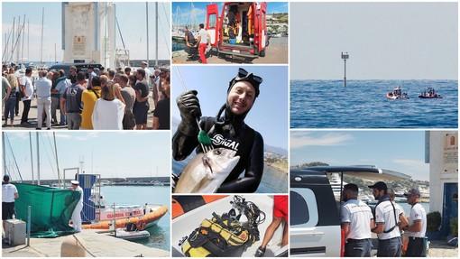 Sanremo: commozione, lacrime ed abbracci all'arrivo di Enrico Creta sul porto. Il cordoglio dell'Amministrazione e della città (Foto)
