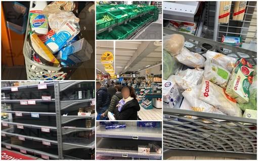 Allerta #Coronavirus: anche questa mattina alcuni supermercati presi d'assalto, rassicurazioni sugli approvvigionamenti (Foto e Video)