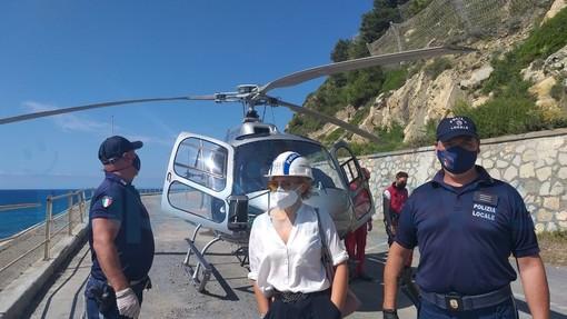 """Diano Marina: ispezione in elicottero sull'incompiuta, Diano Riparte all'attacco """"Inutile spreco di denaro pubblico"""""""