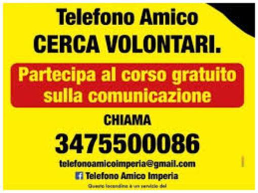 Il Telefono Amico di Imperia organizza un corso sulla comunicazione per la ricerca di nuovi volontari