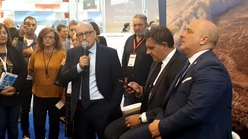 """La Regione Liguria al Ttg di Rimini: Berrino e Toti """"Siamo qui ma saremo anche a Londra per promuovere la Liguria del 2020"""" (Video)"""