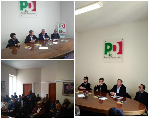 """Primarie Pd, l'ex Ministro Orlando a Imperia a sostegno di Zingaretti """"Con lui riparte il centro sinistra"""" (foto e video)"""