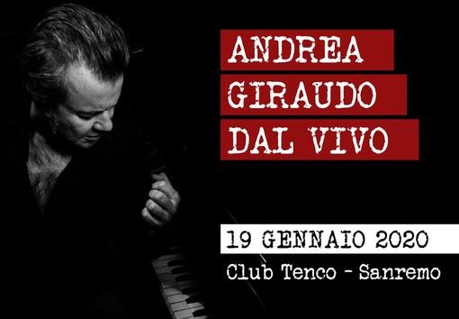 Sanremo: al Club Tenco la musica live del cantautore piemontese Andrea Giraudo