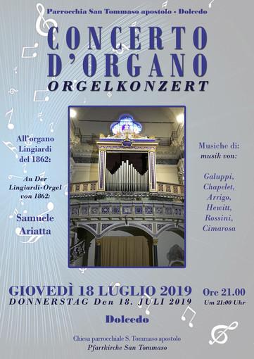 Giovedì a Dolcedo il 'ritorno' di Samuele Ariatta per suonare il prestigioso organo Lingiardi